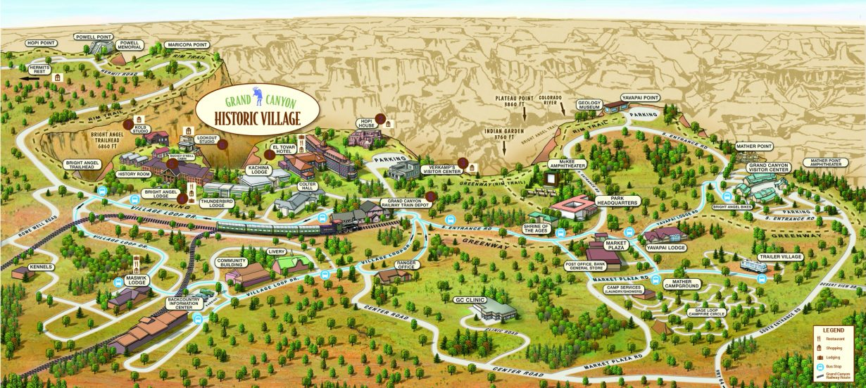 grand-canyon-Village-Map