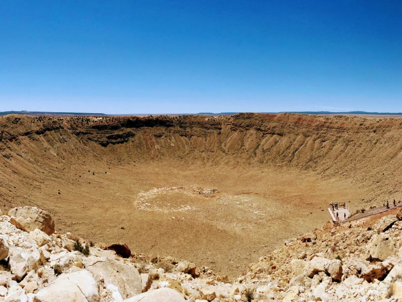 vista totale sul Meteor Crater il cratere meteoritico in Arizona