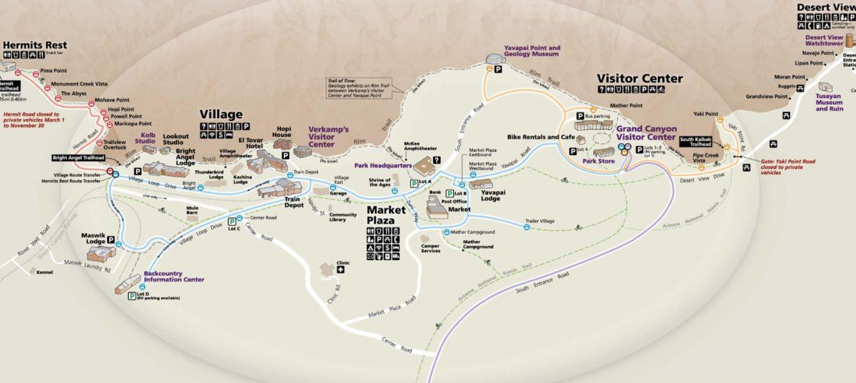 south-rim-map