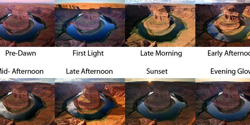 horseshoe bend sunrise sunset